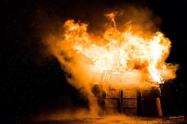 Fire explosion danger.