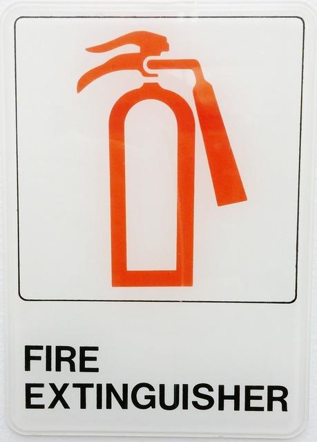 Fire extinguisher fire extinguisher.