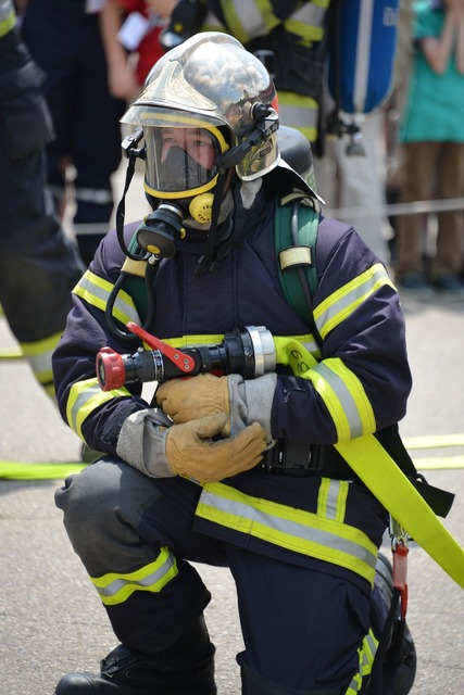 Fire fighter fire wear protective clothing, people.