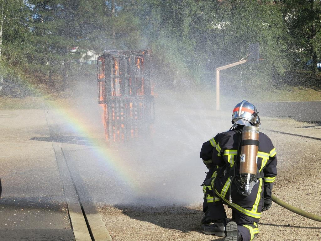 Fire fire fighting brand.