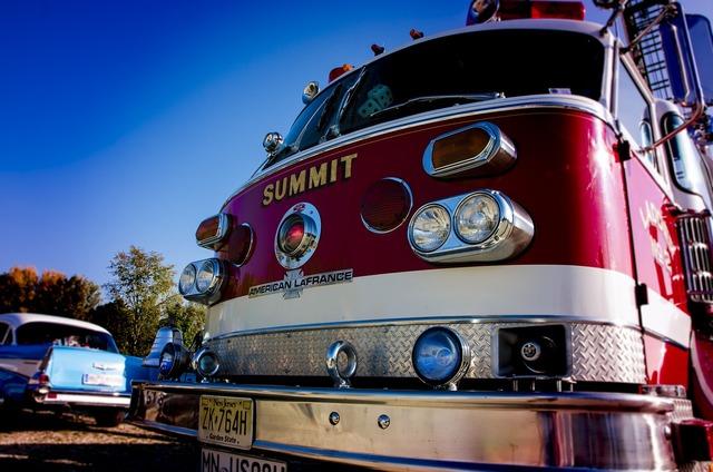 Fire fire truck oldtimer, transportation traffic.