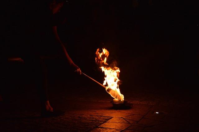 Fire fireshow burn.