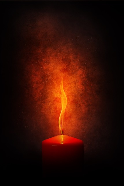 Fire flame candle, emotions.