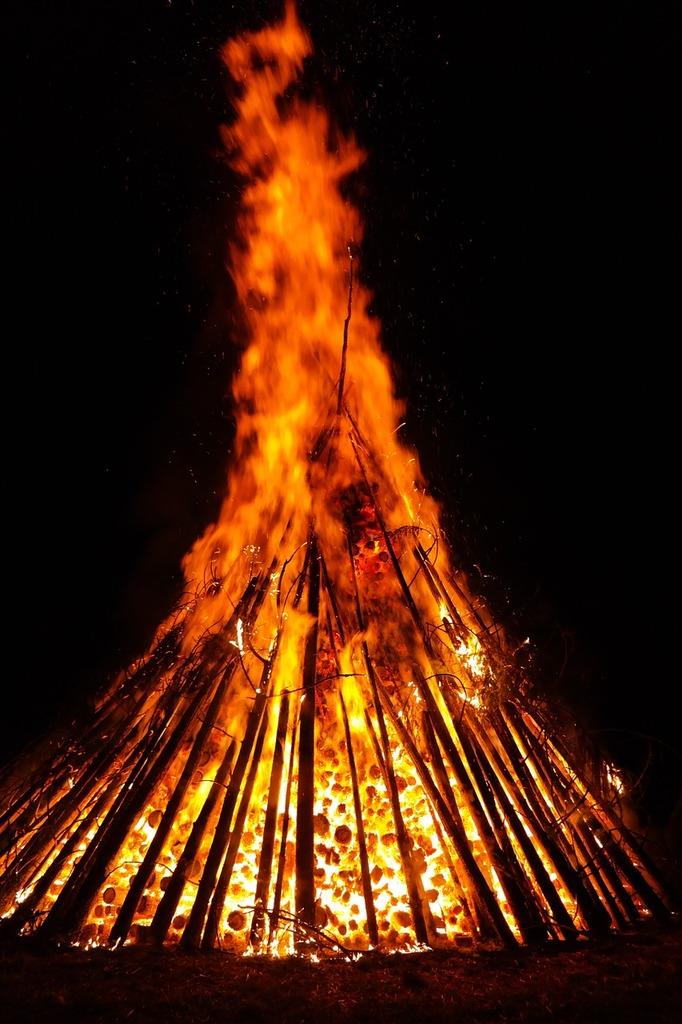 Fire flame embers.