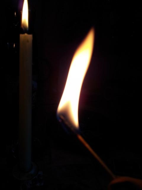 Fire flame light.