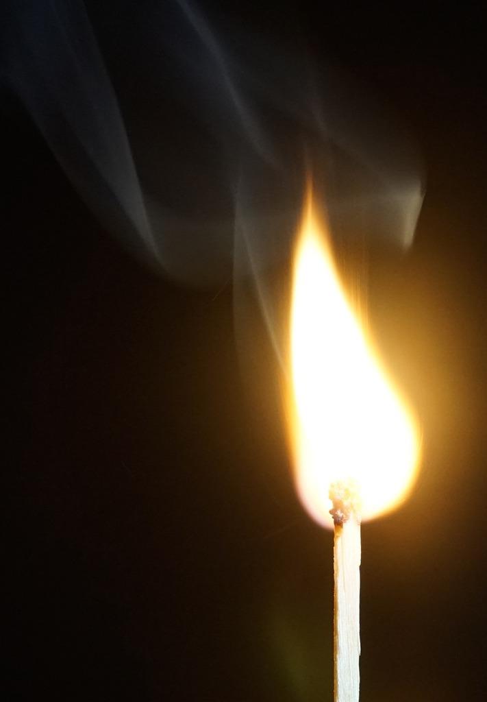 Fire flame match.