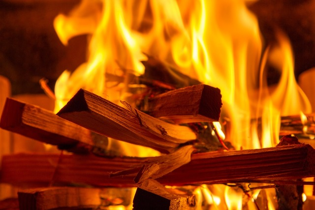 Fire flame wood.