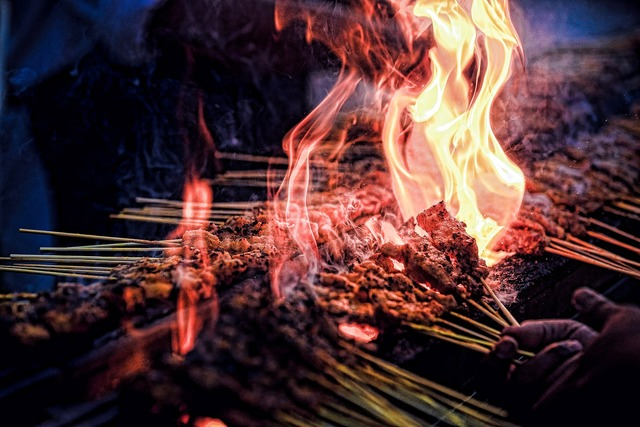 Fire heat grill.