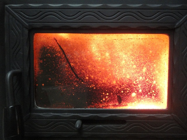Fire indoors fireplace.