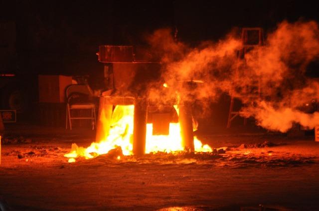 Fire molten metal.