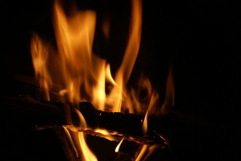 Fire new year's eve dark.
