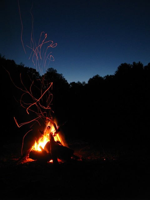 Fire night campfire, travel vacation.
