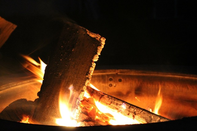 Fire pit flame.