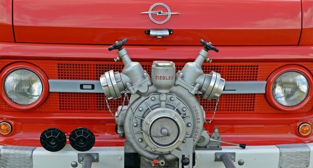 Fire pump opel blitz.