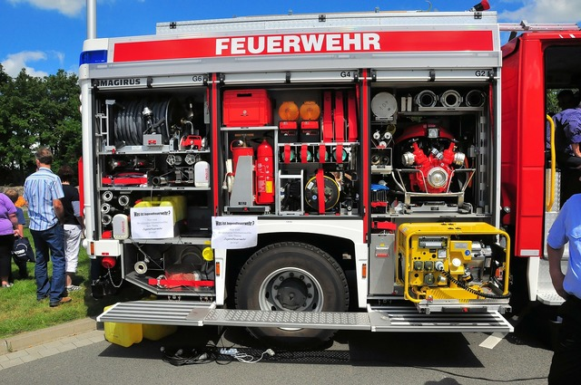 Fire rescue vehicles interior view.