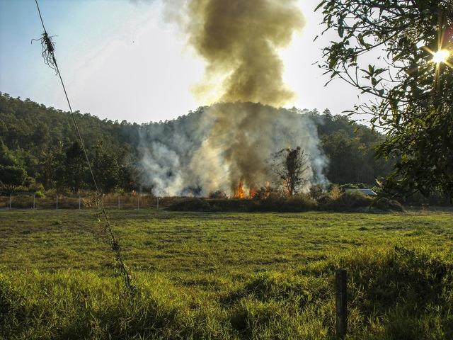 Fire smoke environmental dirt.