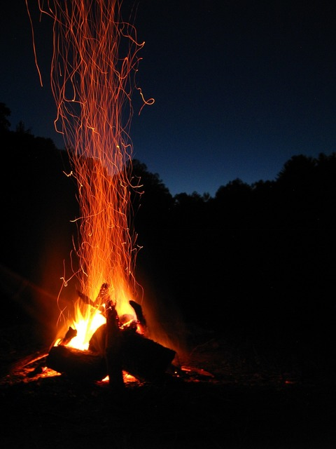 Fire spark campfire, travel vacation.
