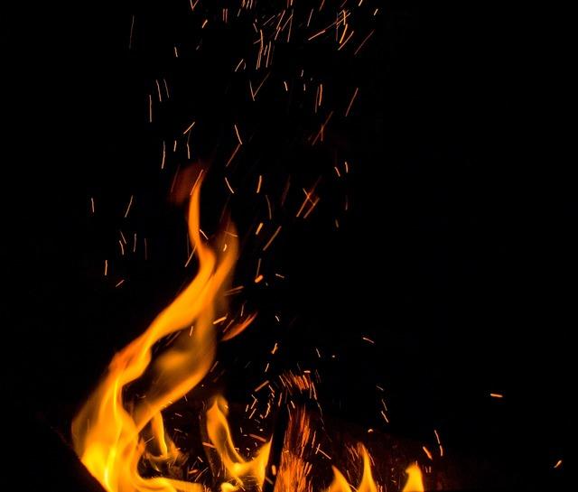 Fire spark flame.