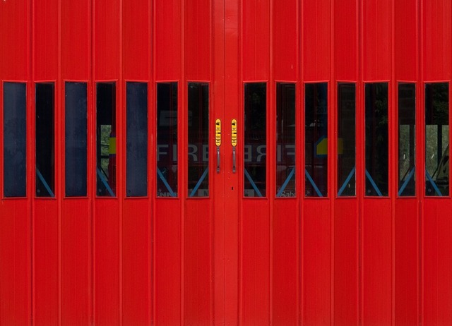 Fire station fire department front, architecture buildings.