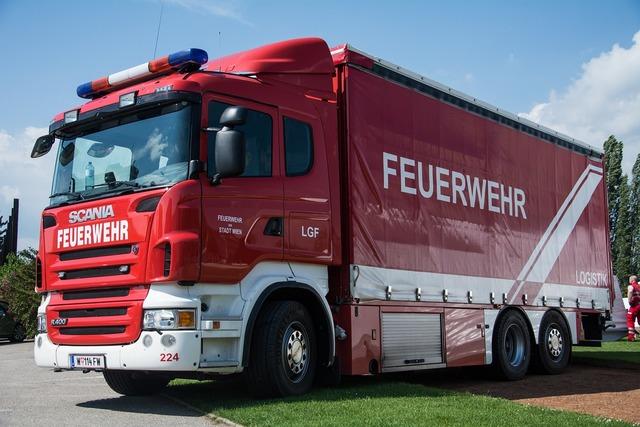 Fire truck vehicles, transportation traffic.