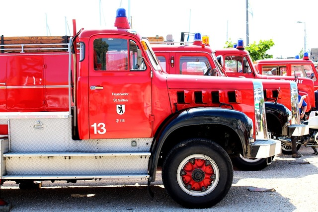 Fire vehicles exhibition.