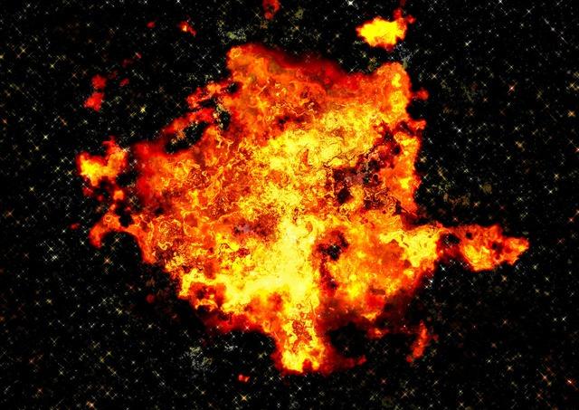 Fireball explosion disaster.