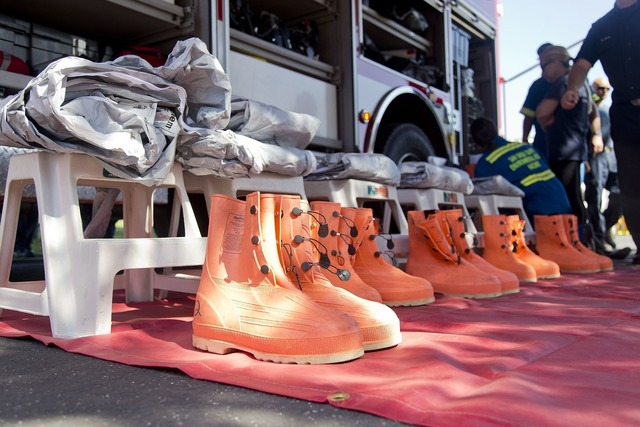 Firefighters equipment protection.
