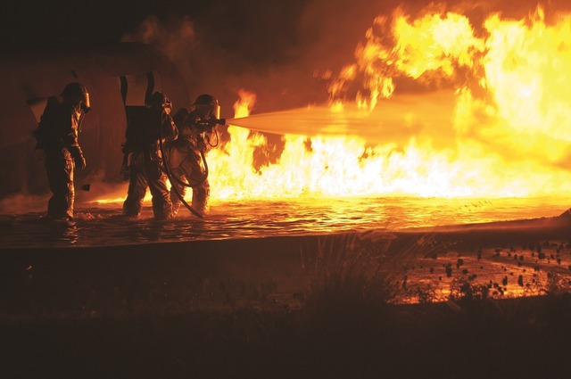 Firefighters training live.