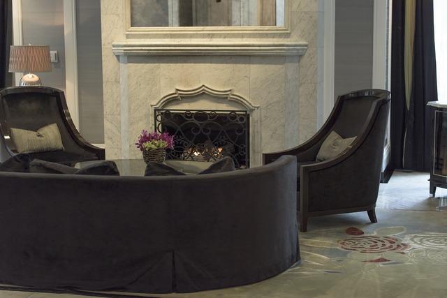 Fireplace chair sofa.