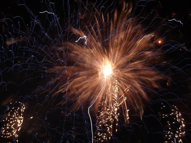 Fireworks at night dark.