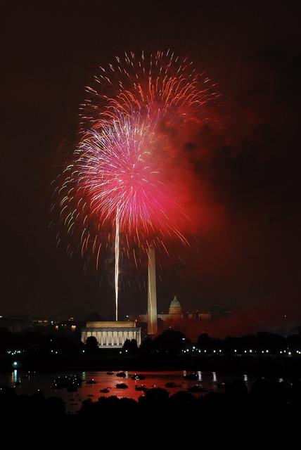 Fireworks celebration independence day.