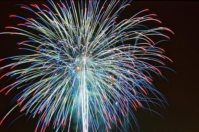 Fireworks color celebration.