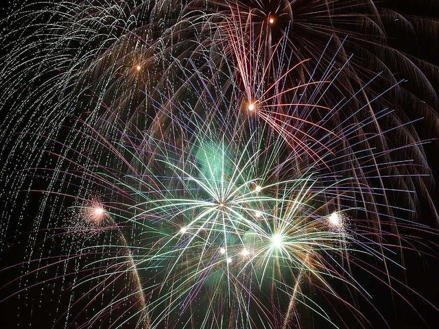 Fireworks color night.
