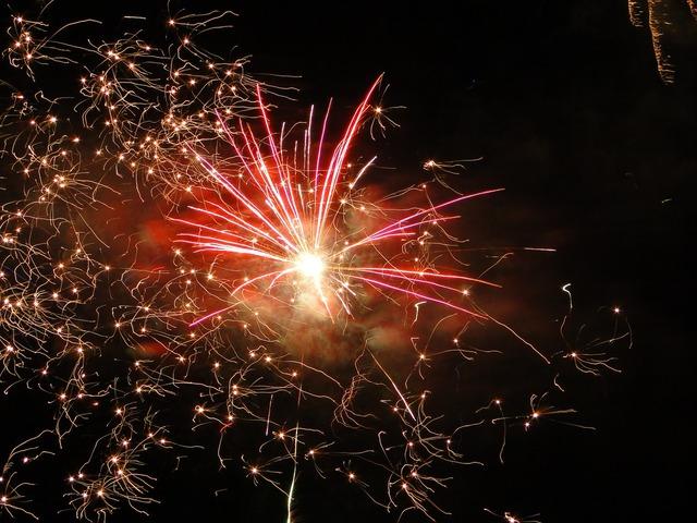 Fireworks graphics yellow.