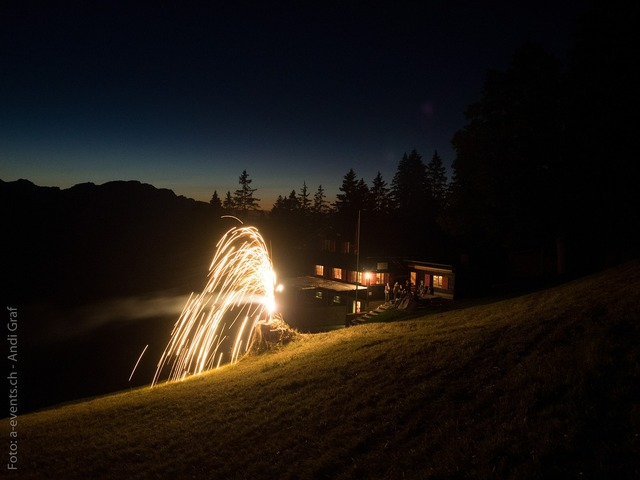 Fireworks hut switzerland.