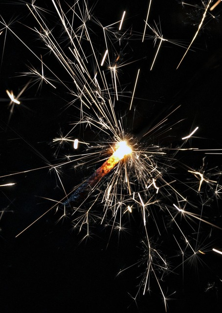 Fireworks light celebration, emotions.