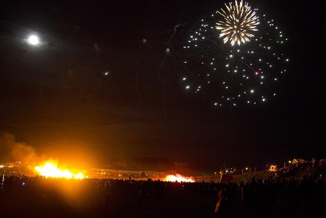 Fireworks seaford fire.