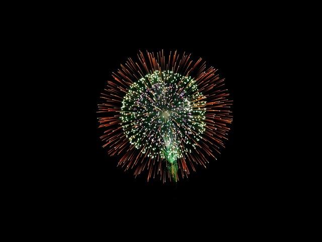 Fireworks summer festival.