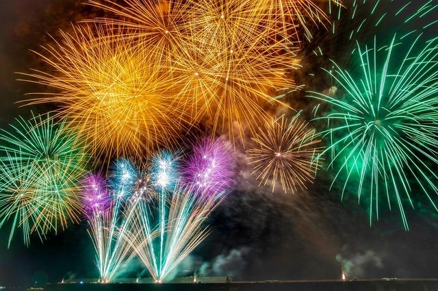 Fireworks summer starmine.