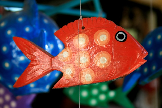 Fish crafts mexico, travel vacation.