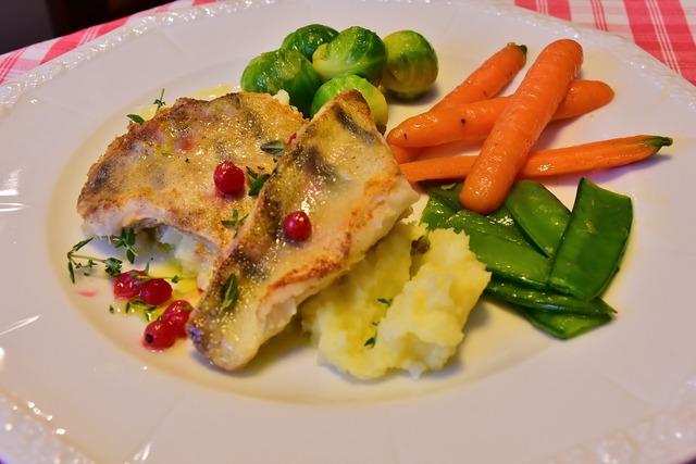 Fish pike perch zander filet, food drink.