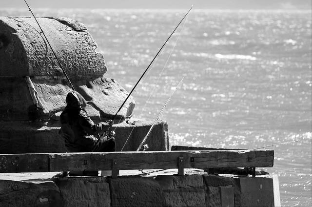 Fisherman hobby occupation, people.