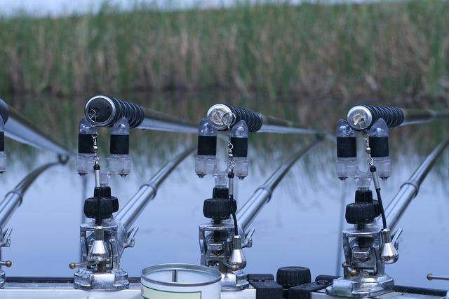 Fishing dedicating framework fishing rod, nature landscapes.