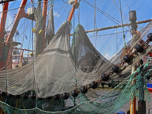 Fishing net port dry.