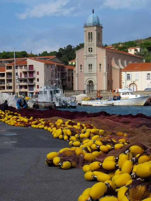 Fishing net port-vendres france.