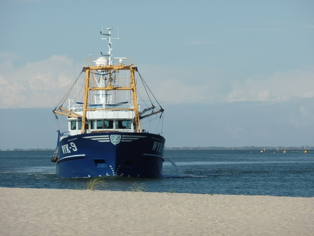 Fishing vessel sea port.