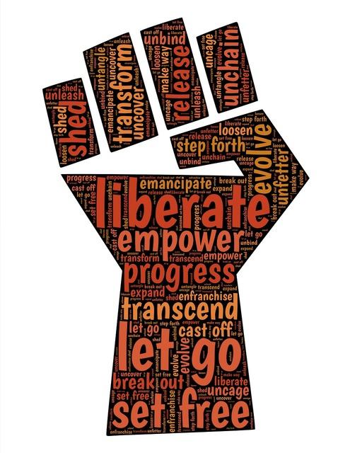 Fist liberate change.