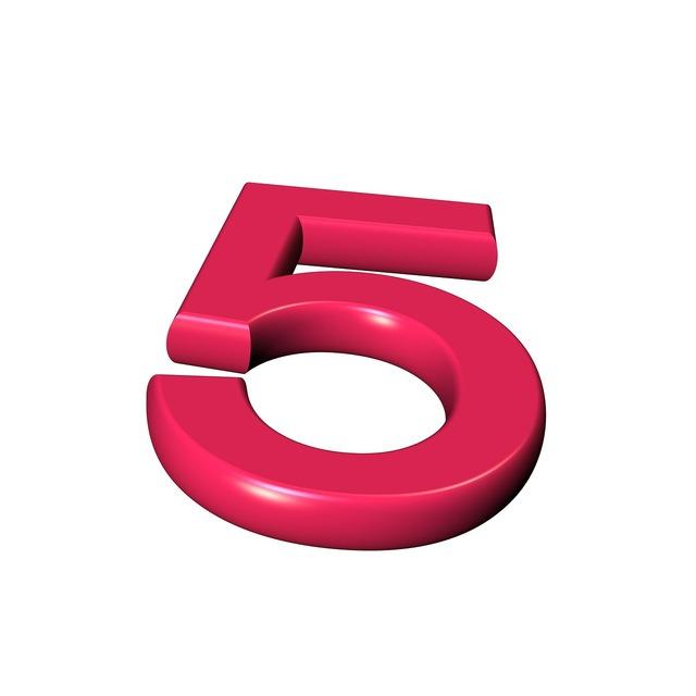 Five number digit.