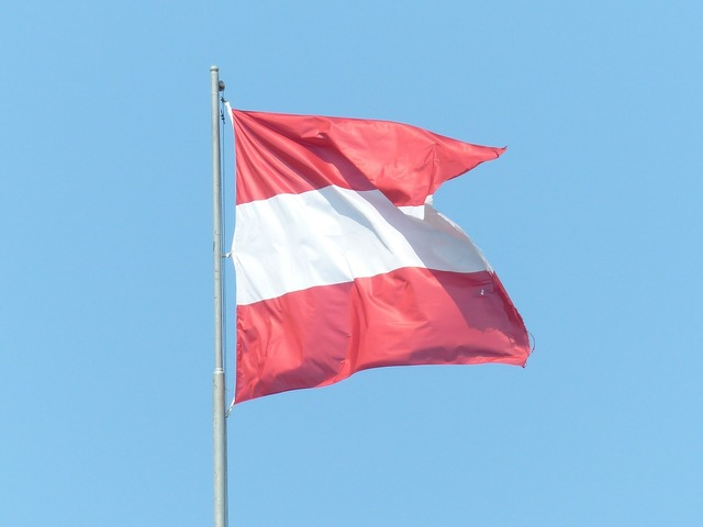 Flag austria red.