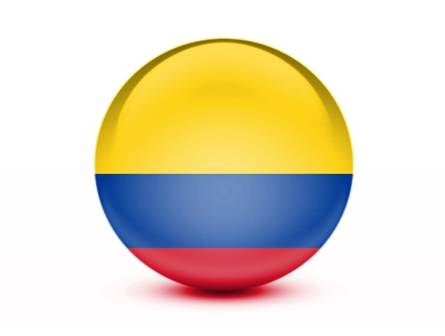 Flag colombia 3d, travel vacation.